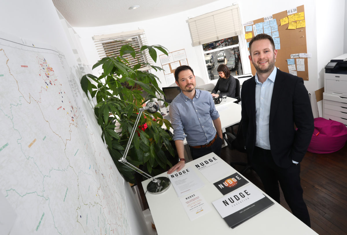 Newcastle based Nudge Education received £40,000 investment from the North East Small Loan Fund