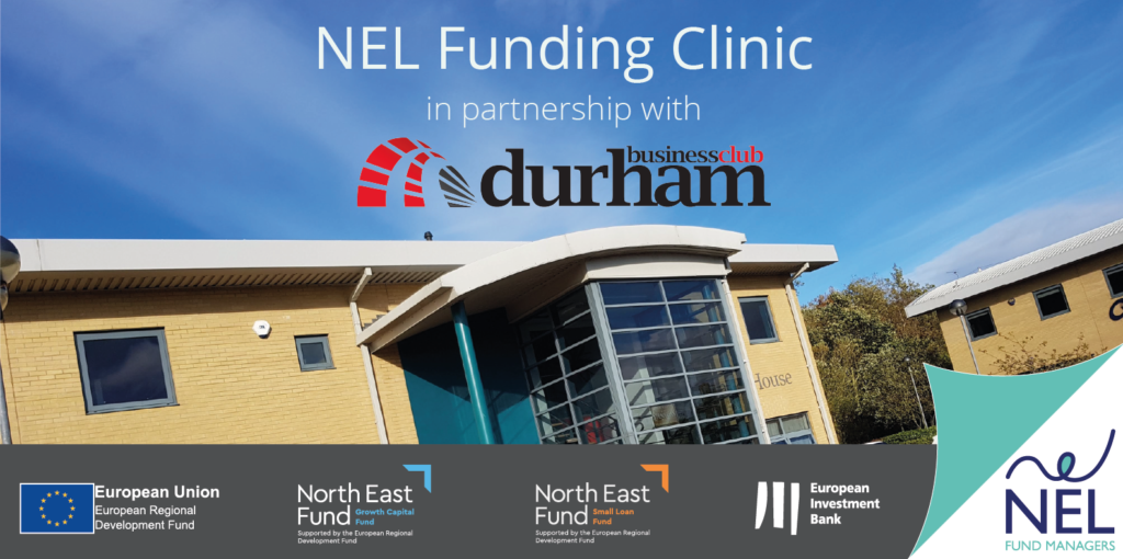 NEL Funding Clinic held at Portland House, Belmont Business Park