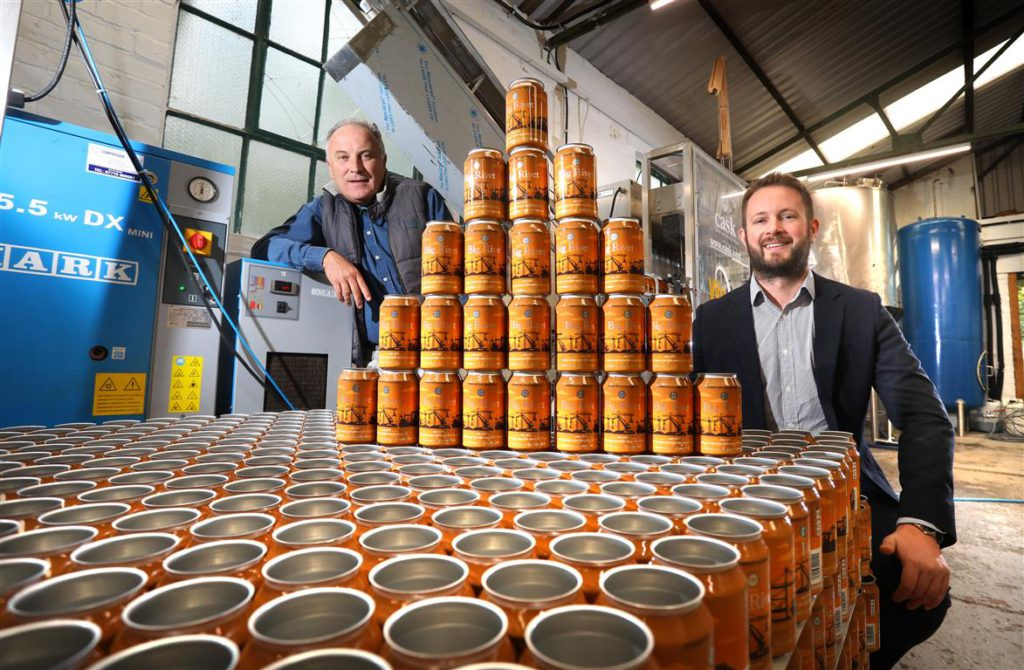 Paul Minnikin, MD of The Great North Eastern Brewing Company with Mike Guellard, Investment Executive at NEL Fund