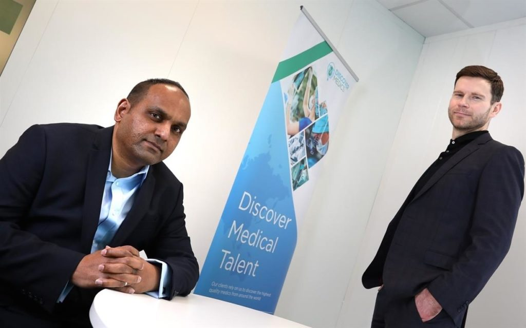 Himal Arachchi of Sunnyside Recruitment with Jonathan Armitage of NEL Fund Managers
